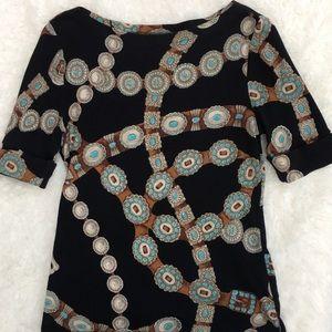 LRL Boatneck Shirt Western Belt Concho Large
